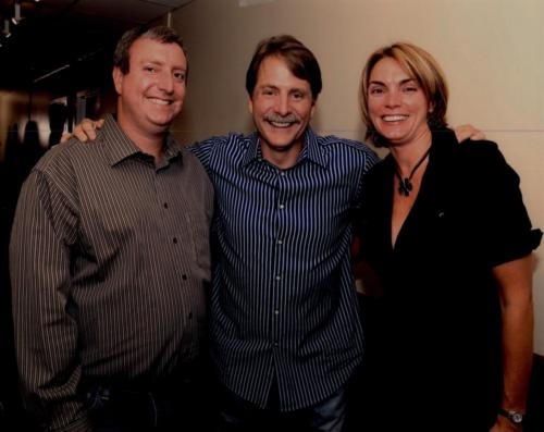 Comedian and TV star Jeff Foxworthy with Dr. Cohen and Dr. Nicholson