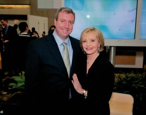 Florence Henderson and Dr. Cohen