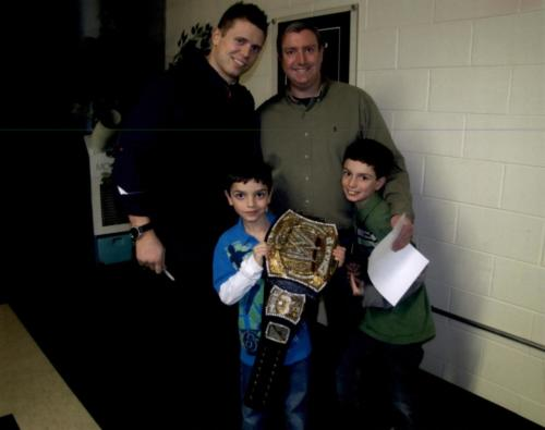 Mike, The Miz, Mizanin, Pro Wrestler and Actor with Dr. Cohen and family